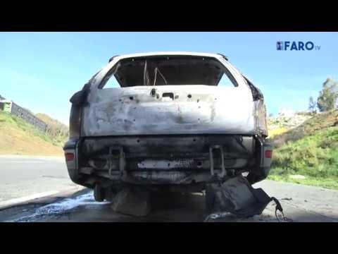 Queman dos coches y prenden fuego a un vertedero de madrugada