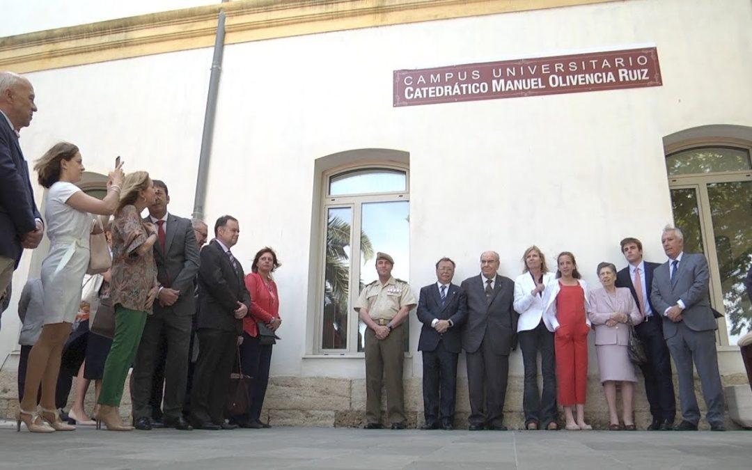 El Campus Universitario de Ceuta pasa a llamarse Catedrático Manuel Olivencia Ruiz